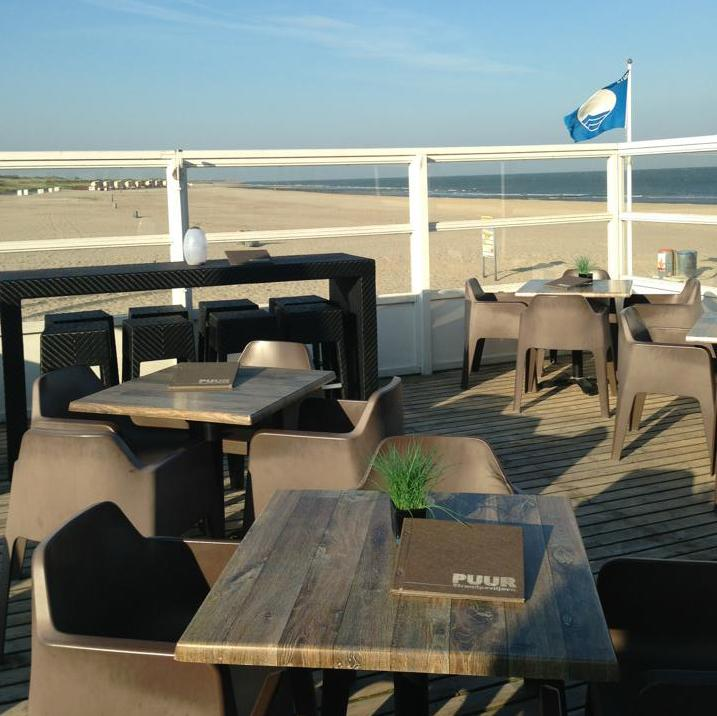 Strandpaviljoen Puur, zomer, Nederland, Cadzand, zee, zwemmen, openlucht