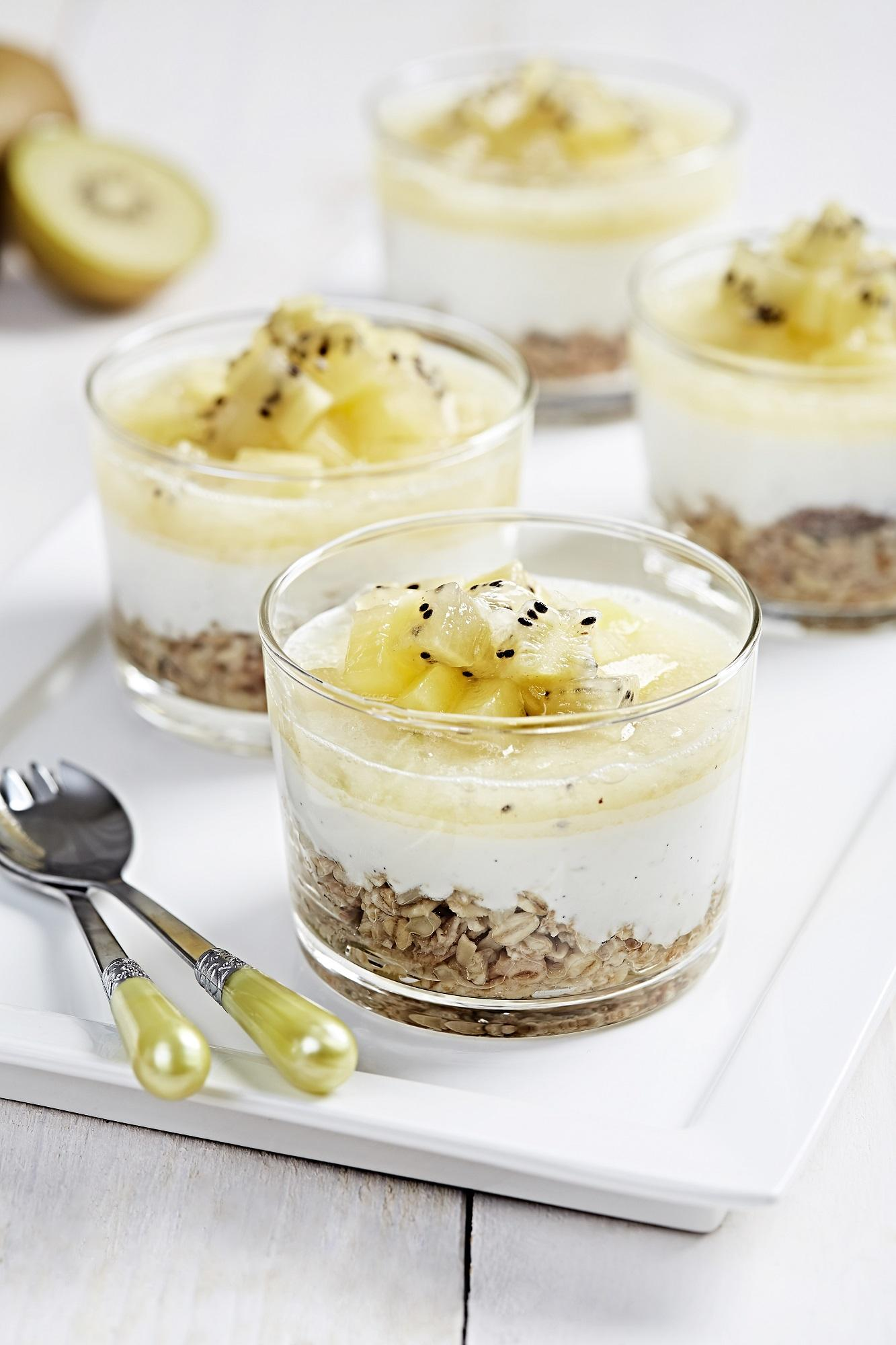 Recette verrine cheesecake kiwi