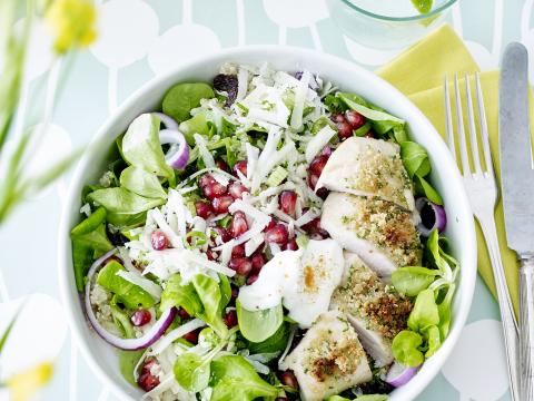 Fonkelnieuw Salade met quinoa en krokante kip - Libelle Lekker AF-68
