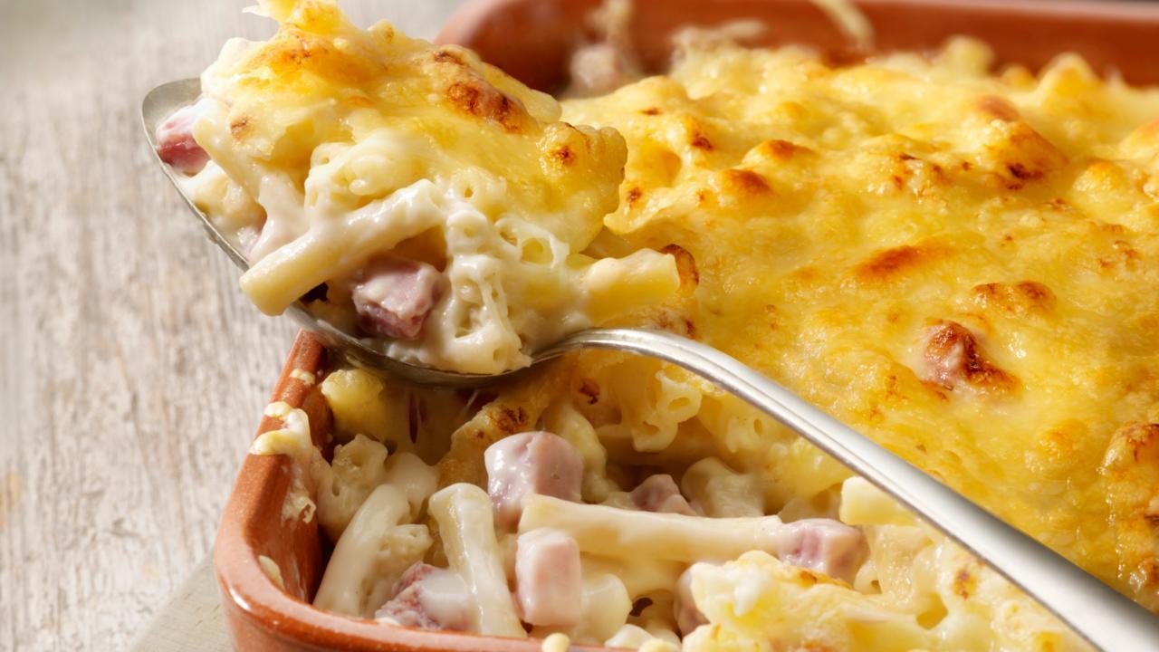 macaronischotel oven ham kaas