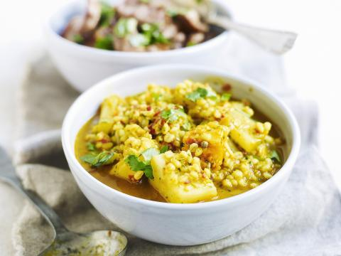 Curry jaune au poisson