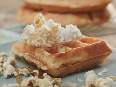Brusselse wafels met popcorncrumble