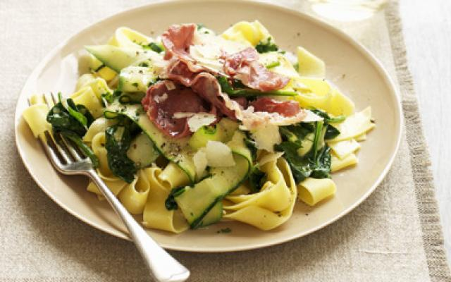 pasta spinazie courgette