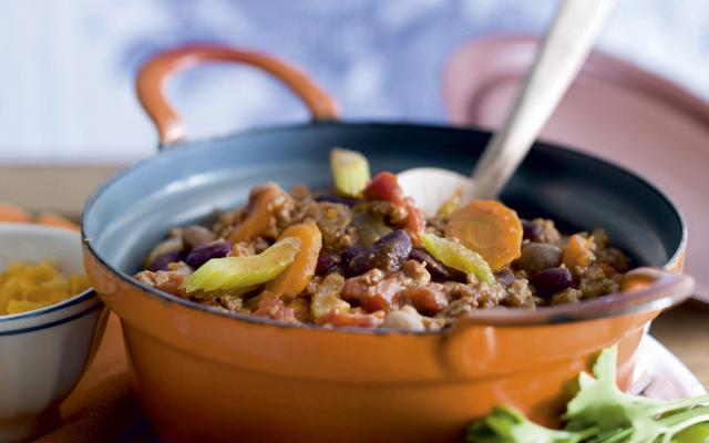 Traditionele chili con carne