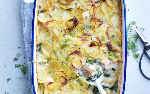 spinazie aardappel ovenschotel