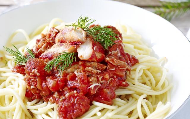 recept pasta met krab