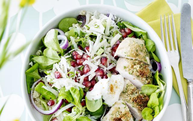 Voorkeur Salade met quinoa en krokante kip - Libelle Lekker &MH19