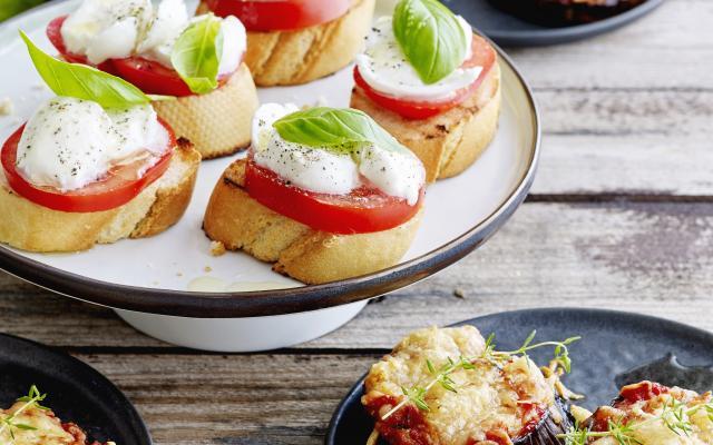 bruschetta mozzarella tomaat