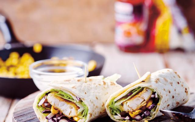 Wraps au chou rouge