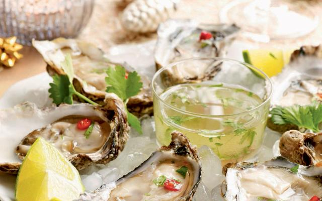 Oesters met citrusvinaigrette