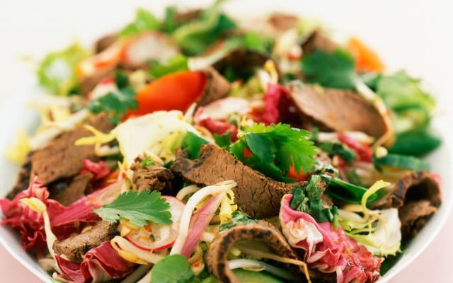 Salade de boeuf bouilli aux échalotes, vinaigrette à la moutarde de Dijon 9ccda230c8e