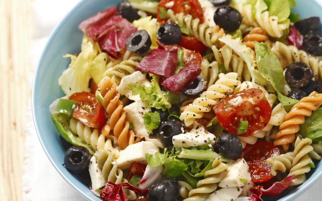 koude vegetarische pastasalade