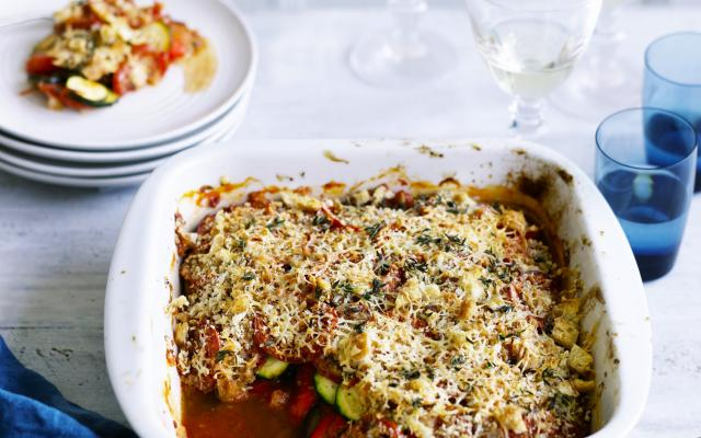 Gegratineerde ratatouille