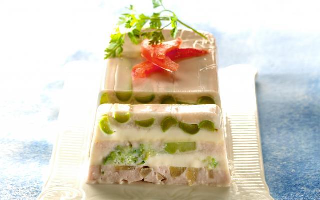 Van Ham Keukens : Terrine van ham asperges broccoli en artisjok libelle lekker