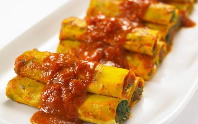 Cannelloni met verse spinazie