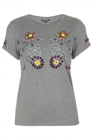 T-shirt met embellishments – € 44 – Topshop