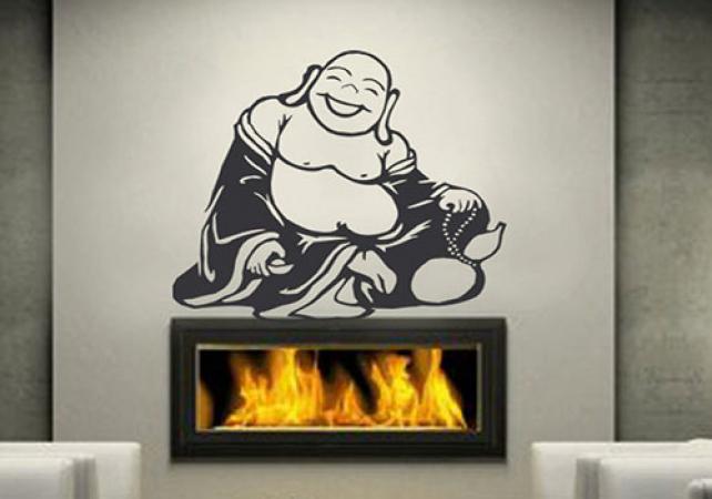 Autocollant Bouddha (64,39 €, sur Etsy.com)