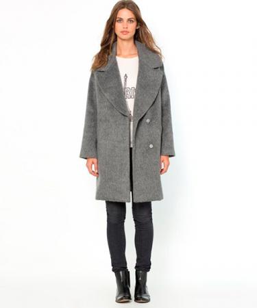 Oversized wollen mantel
