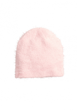 Fluffy, roze beanie