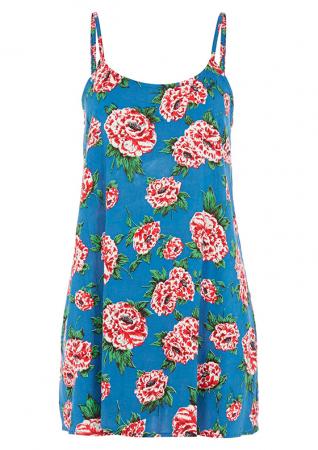 Slip dress met bloemen