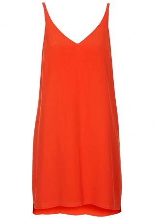 Rode slip dress