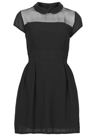 Organza jurk met kraag