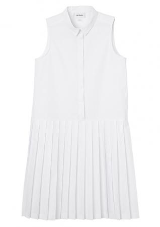 Wit kleedje met plooien