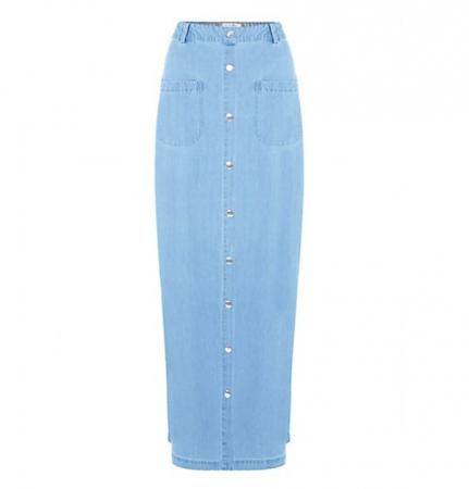 Lange jeansrok