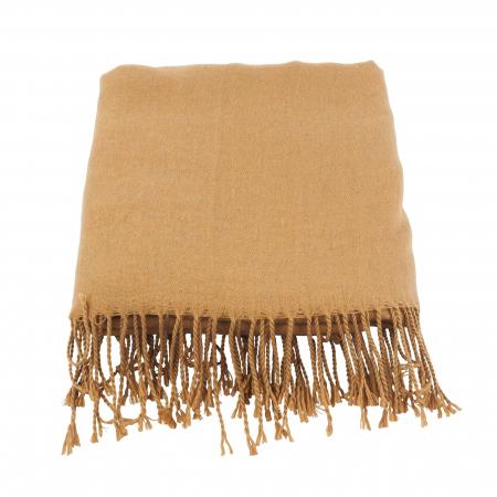 Camelkleurige sjaal
