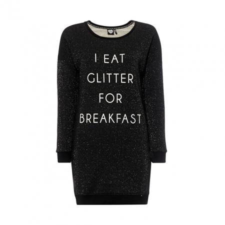Oversized sweater met quote