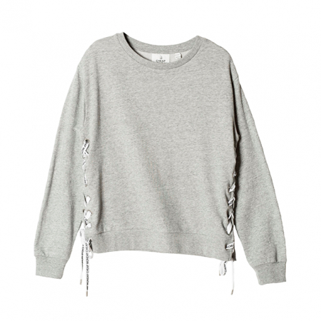 Sweater met touwtjes