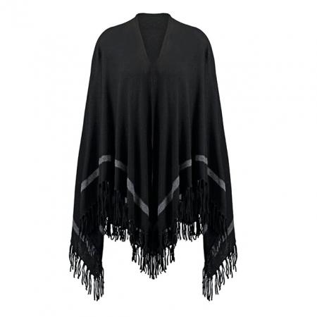 Zwarte poncho