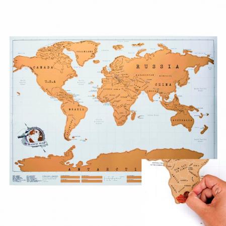 Scratchmap wereldkaart
