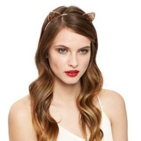 Roze glitter cat ear