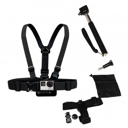 GoPro HERO4 + 6 in 1 set outdoor accessoires