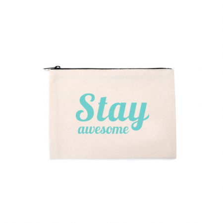 Make-uptasje 'Stay awesome'