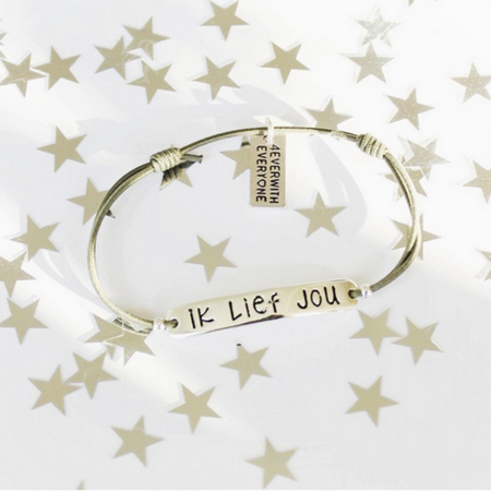 Armbandje 'Ik lief jou'