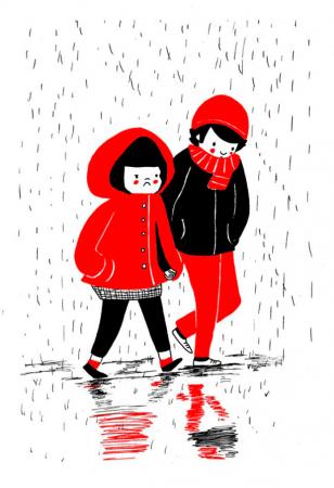 Marcher sous la pluie