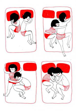 Dormir l'un contre l'autre