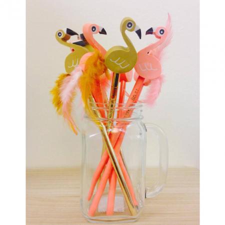 Flamingopotlood met gom
