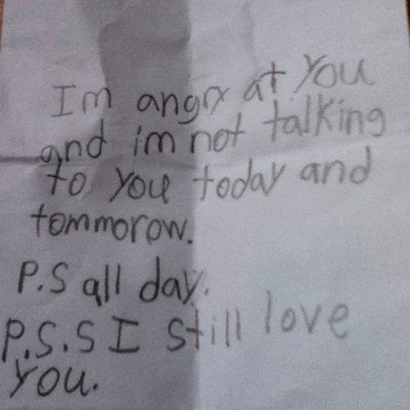 'P.S. All day. P.S. I still love you.'