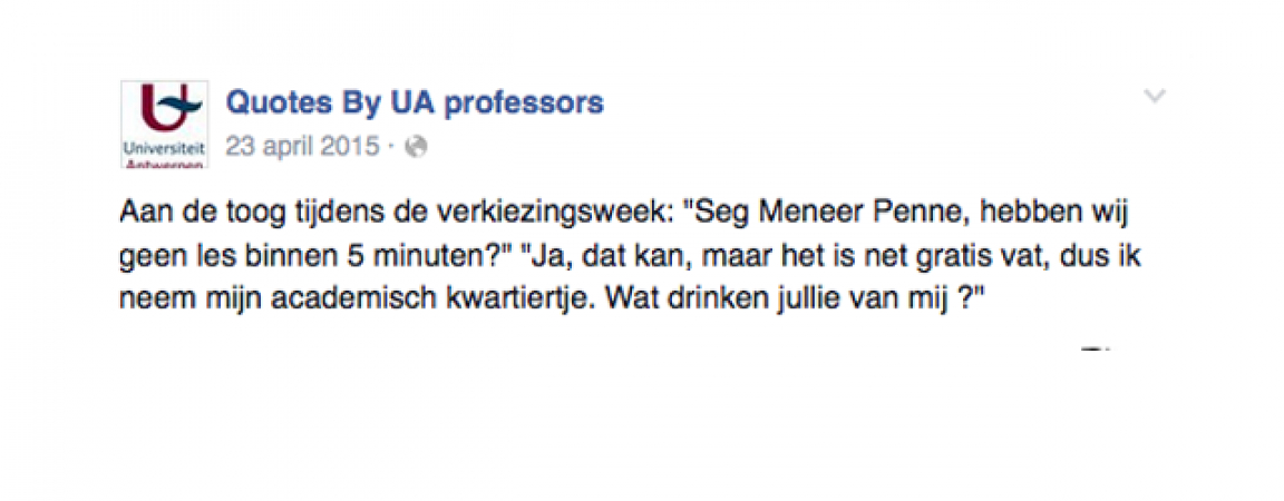 © Facebook: Quotes By UA professors