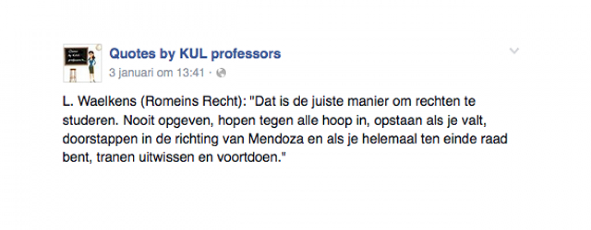 © Facebook: Quotes by KUL professors