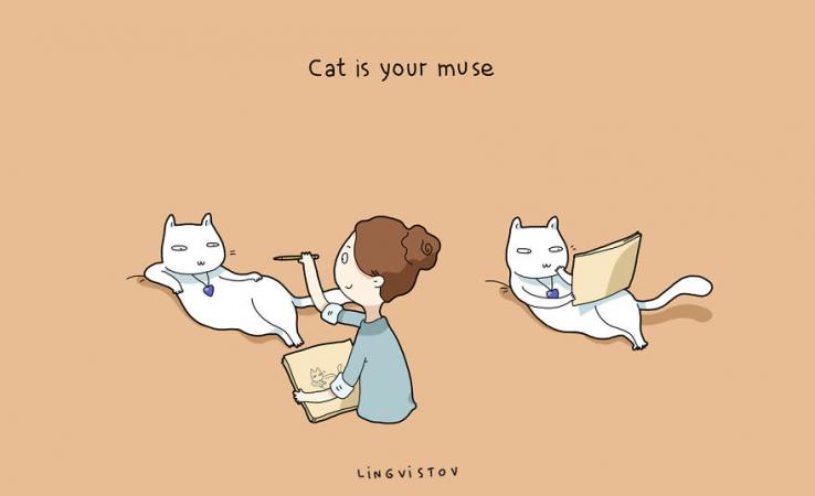 Le chat est votre muse