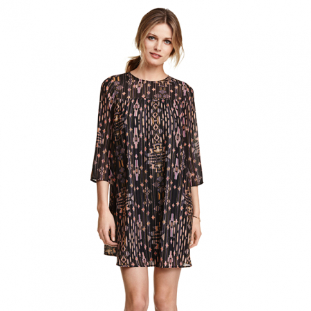 Chiffon jurk met print