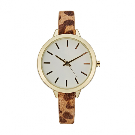 Horloge met luipaardprint
