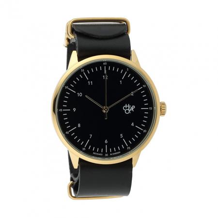 Zwart horloge met goud