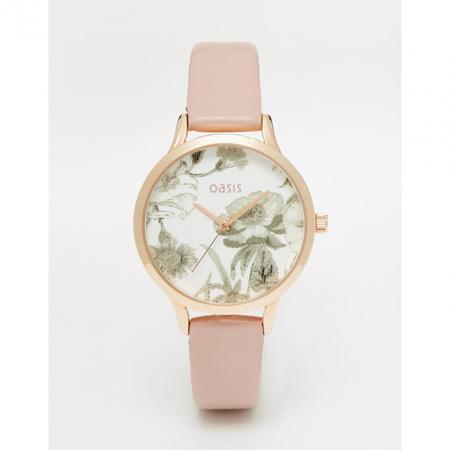 Horloge met bloemenprint