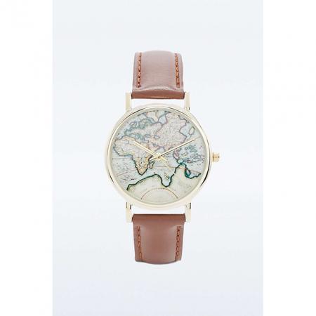 Horloge met wereldkaart