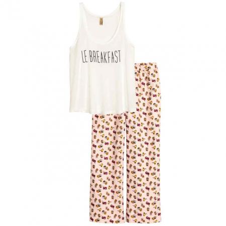Pyjama met flanellen broek